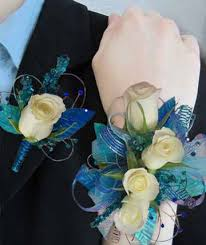 turquoise corsage corsages boutonnieres wrist corsages poway ca gardens