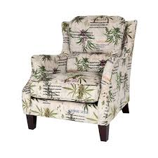 mary jane furniture smoking botanical print accent chair with
