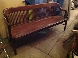 mid century marble and shattuck municipal office waiting bench
