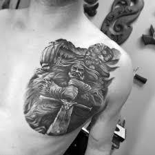 tattoo 3d design chest 50 chest cover up tattoos for men upper body design ideas