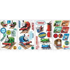 kids room nursery wall decals babies roommates peel and stick wall decals thomas the tank engine