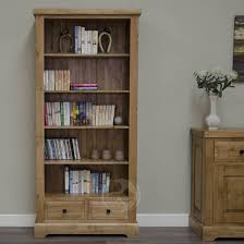 tall narrow oak bookcase oak bookcases oak furniture uk