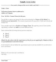 sample cover letter change job