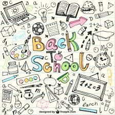 back to sketches in notebook vector free download