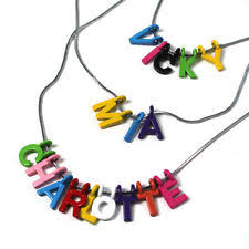 Children S Name Necklace Stainless Steel Letters Numbers Words Fashion Necklaces