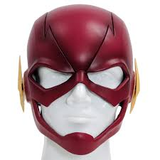 star trek halloween mask the flash mask flash cosplay helmet resin red full head mask for