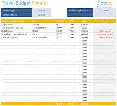 travel budget planner exol gbabogados co