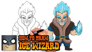 how to draw ice wizard clash royale youtube
