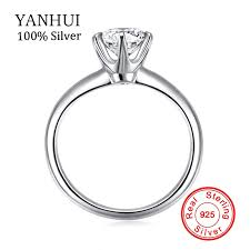 engagement rings 100 aliexpress buy yanhui 100 925 solid silver rings set 6mm