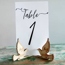 Diy Table Number Holders Online Shop 10x Personalized Customized Wood Wooden Doves Table