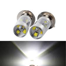 cree led 40w dual light 12v p15d white bulb motorcycle headlight