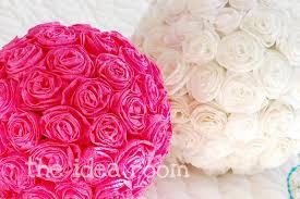 Flower Ball Crepe Paper Flower Balls The Idea Room