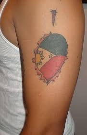 men shoulder and amazing filipino sun and simple star tattoo idea
