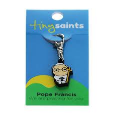 pope francis tiny saint charm the catholic company