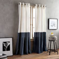 Navy Window Curtains Dkny Color Band Grommet Top Window Curtain Panel Family Room
