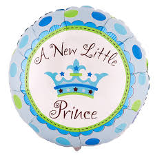 a new prince baby shower 5pcs anagram 18 inch a new prince baby shower foil balloon