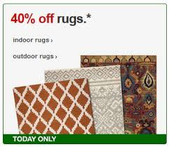 target 40 off indoor and outdoor rugs plus free shipping today