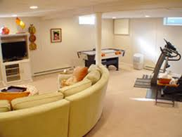 home interiors chic basement design idea for family living room