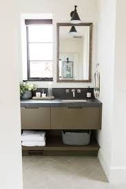 bathroom lighting solutions studio mcgee 32guest bathroom with olive green cabinets and dark