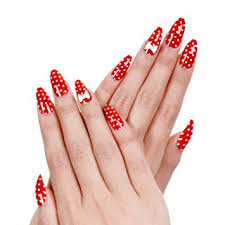 amazon com ejiubas red acrylic nails christmas nail art bow tie