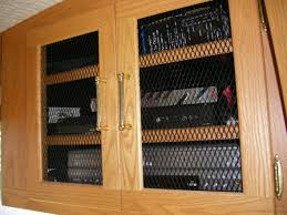 Cabinet Door Mesh Inserts Entertainment Cabinet Door Mesh
