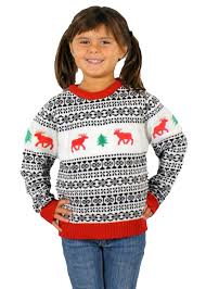 amazon com holiday reindeer sweater in antique children u0027s ugly