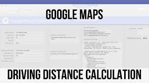 Map Distance Calculator Google Maps Driving Distance Calculation Filemaker 14 Videos