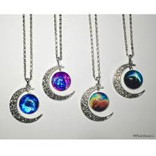 gothic moon necklace images Crescent moon necklace pastel goth gothic necklace kawaii jpg