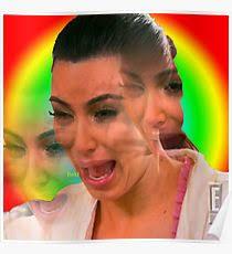 Kim Kardashian Crying Meme - kim kardashian crying meme posters redbubble