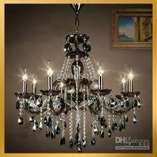 black crystal pendant light black amp clear crystal pendant l hanging chandelier suspension