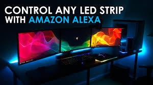control any led light strip with amazon alexa youtube