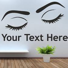 compare prices hair salon beauty online shopping buy low price eyes text wall window art picture sticker hair beauty salon varnish gelish wax decals