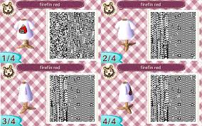 animal crossing new leaf qr code hairstyle splatoon firefin shirt white animal crossing new leaf qr code