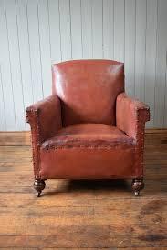 Vintage Leather Club Chair Vintage Antique French Leather Club Chair Vinterior