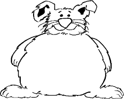 fat bunny frame coloring page color book