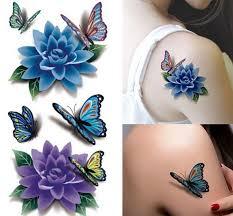 6pcs lot colorful 3d butterfly sticker