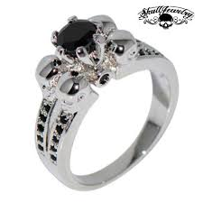skull wedding rings wedding rings skulljewelry american owned operated 1
