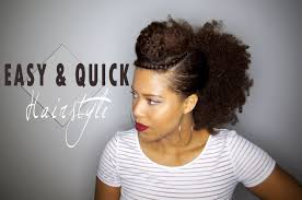 Quick And Easy Hairstyles For Medium Length Hair Easy U0026 Quick Hairstyle For Your Old Wash And Go Natural Hair