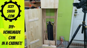 Home Made Cabinet - diy homemade gym in a cabinet youtube