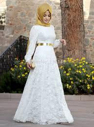 abaya wedding dress 2015 arrival lace muslim wedding dress white sleeve