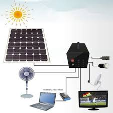 Solar Home Lighting System - solar home lighting system with 60w solar panel and 4 pcs led