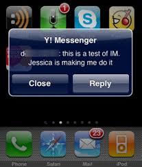 yahoo messenger app for android yahoo messenger for iphone gets push y the cnet