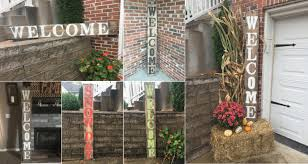 wooden outdoor welcome sign rustic wooden welcome sign reclaimed