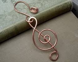 music note home decor copper treble clef ornament music gift musician gift choir