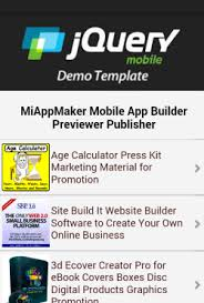 jquery mobile template editor develops mobile apps with html5 css3