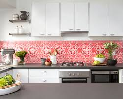 Wallpaper For Kitchen Backsplash by Love Love Love The Wallpaper Under Glass Backsplash Kitchen