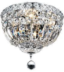 Chrome Flush Mount Ceiling Light by Elegant Lighting V2528f12c Rc Tranquil 4 Light 12 Inch Chrome