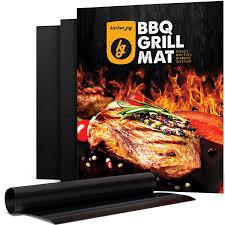 amazon com bbq grill mat set of 3 non stick grill mats barbecue