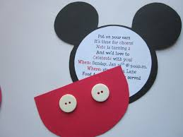 mickey mouse diy invitations template invitation card gallery