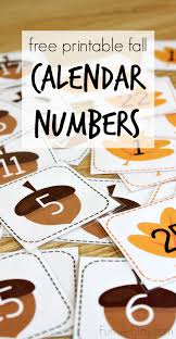 free printable calendar numbers for fall calendar numbers early